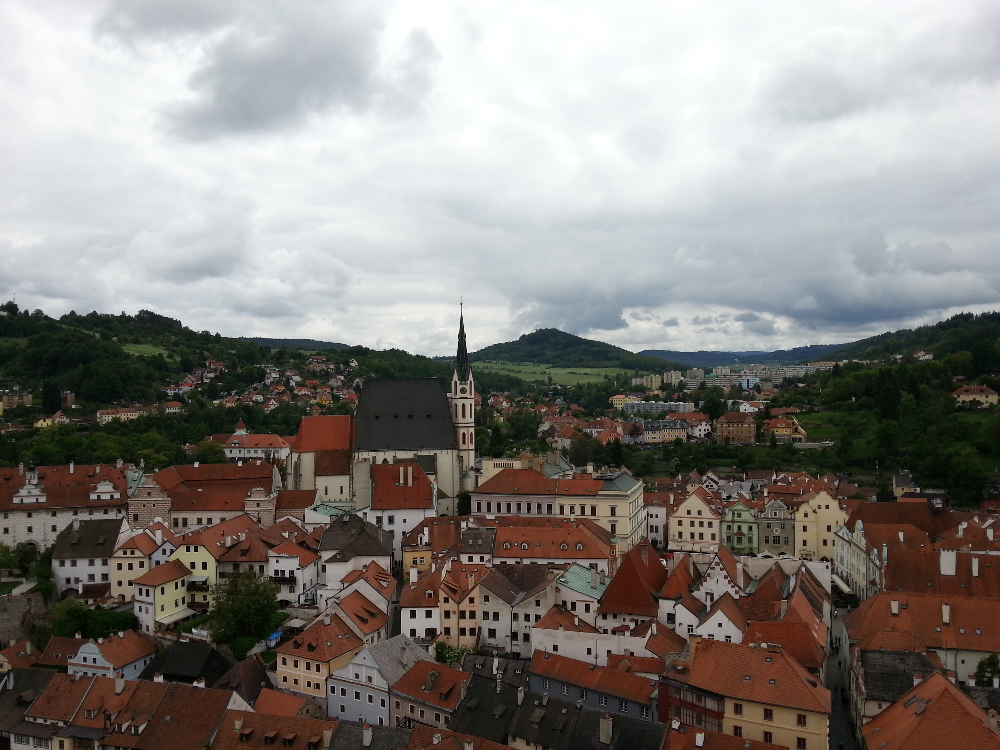 Česki Krumlovas panorama